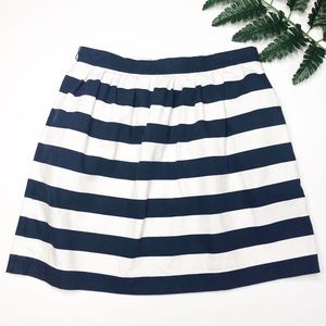 {Alice + Olivia} Blue And White Striped Mini Skirt